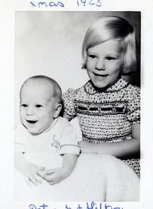 Peter & Hilary Schoff, Christmas 1965.