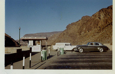 The Rolls-Royce at Hoover Dam, from the Arizona side, January 1964.