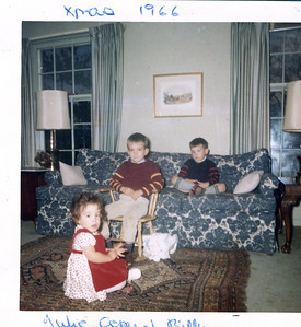 Julie, Gerry and Billy Henderson, Christmas 1966.