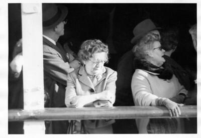 Nana and Bapa at sailing time on the S. S. Lurline, Thursday, January 16, 1964 at 4:00 pm.