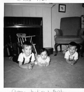 Gerry, Julie & Billy Henderson, Christmas 1965.