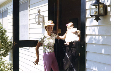 Pam Robbins Fahnestock and her little girl Margaret.  1963?