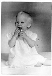 Hilary Schoff.  Nov. 1963.  Age 1 year.