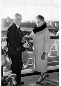 Nana and Bapa at sailing time on the S. S. Lurline, Thursday, January 16, 1964, at 4:00 pm from Los Angeles, CA to Honolulu, HI.