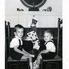 Gerry (3.5 years) and Billy (17 months) Henderson, Christmas 1964.