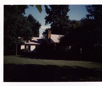 Donna and Brant Henderson's new house on Derwydd Lane in Berwyn, PA. 1971.