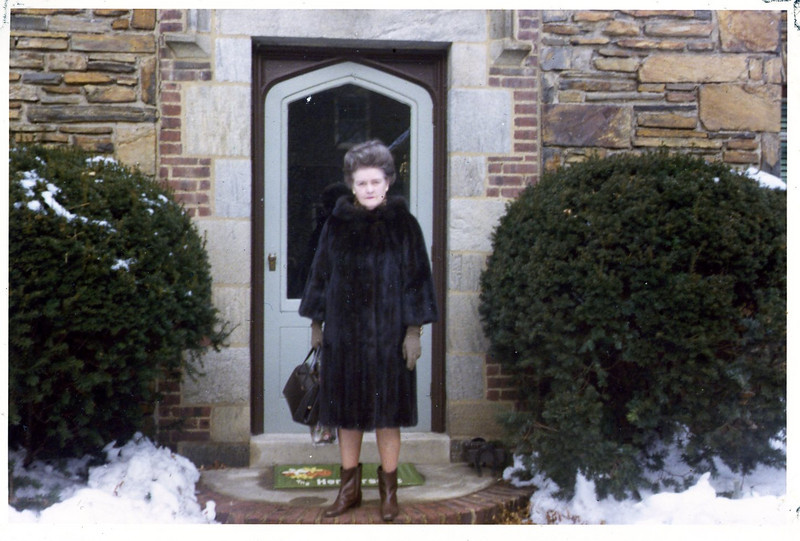 Nana Henderson, Winter 1970, Rosemont, PA, house.