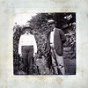 William H. Stritmater (L) and Matthias H. Henderson (R) taken in the garden of Mr. Stritmater's home on Lincoln Avenue, New Castle, PA, about 1902-03.