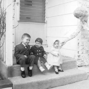 Easter 1964 - Donald, Wayne and Debbie.
