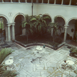 The formal courtyard of Vizcaya.