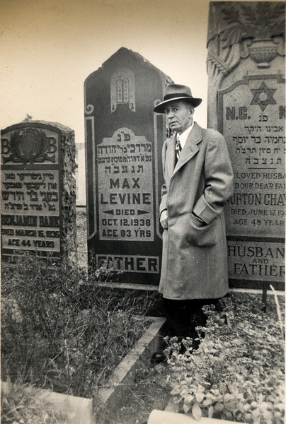 Grandpa Dave at his father's grave (Max Levine)