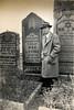 Grandpa Dave at his father's grave (Max Levine)