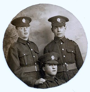 Albert Meacham Top Right - Photo taken before WWII