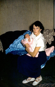 Shirley Johnson holding Toni