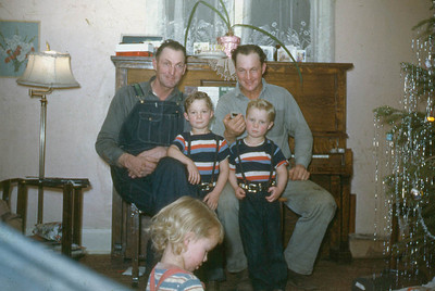 Uncles Foster Baadsgaard , Alfred Baadsgaard, and children Glen and Lynn and Evelyn.