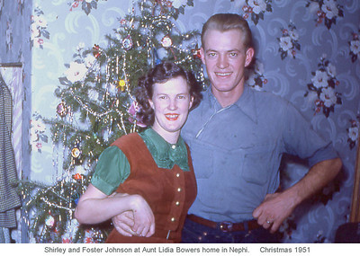 Shirley and Foster Johnson - about the time they got married ~1950