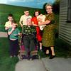 Pat Belsole, GT Belsole, Kurt Belsole, George Herzing, Mary von Arx, Rose Anne Johnson, Margaret Hirschberger Schuster Michel Herzing - taken by Mike Belsole behind the grandparents' home