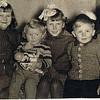 Hirschberger kids, von links - Hertha, Ruth, Ursula, Wolfgang, Sepp (Waldemar nicht dabei) - e