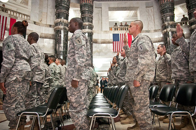 Service members become US citizens during Independence Day naturalization ceremony