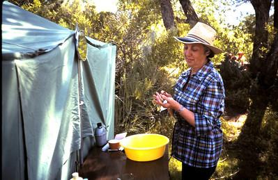 Grandma camping