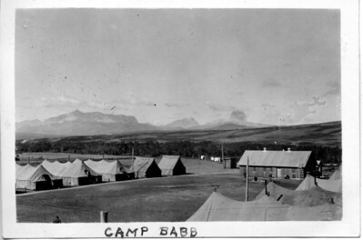 View of the set-up of tents at Co. 1214, BR32, Babb, Montana, August 30, 1935