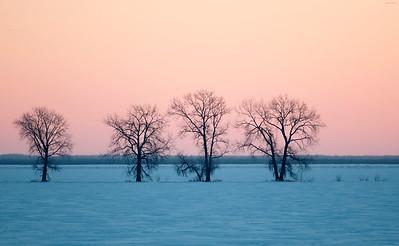 Sunrise in Roseau -40 degrees!
