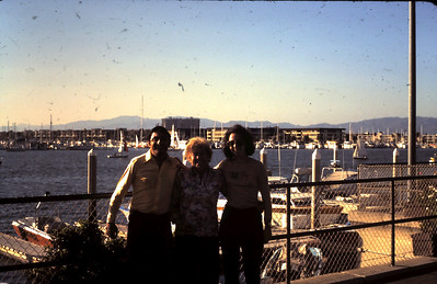 Mordehai, Safta and Ruth at marina del Rey