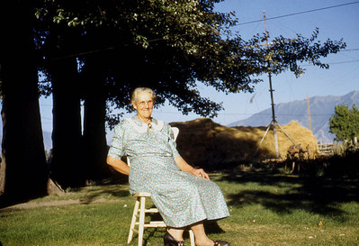 Margaret Baadsgaard at her home in Lake Shore UT. 1950s.