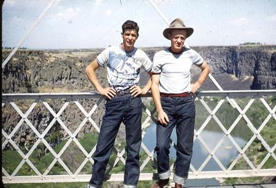 Lamar Hall, Foster Johnson, Idaho fall, 1950's. We lived in Lake Shore Ut.