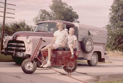 Toni and Scott Johnson on the  Tote Gote, Spanish Fork, 1950s.