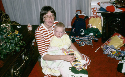 Toni and Mark MacAskill, South Jordan Utah, Christmas Time, late 1970s