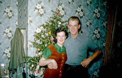 Shirley and Foster, at Lillian's home in Nephi UT, 1950s