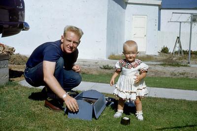 Ivan Danielson and Toni Johnson in San Pedro, CA in 1952.