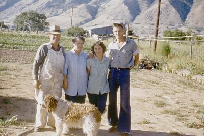 Clark & Gladys Johnson, Glenna & Kenny Iba.  Mapleton, UT.