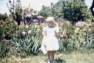 Toni Johnson at home in Spanish Fork UT. 1950s.