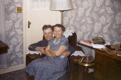 Clark and Gladys Johnson Mapleton UT, 1950s.