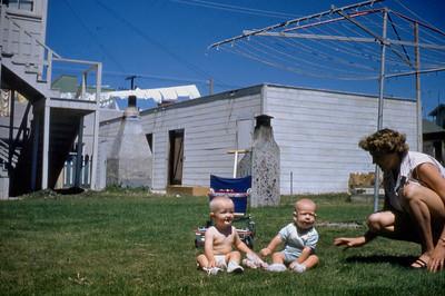 Toni Johnson, Douglas Danielson, Faunda Danielson, San Pedro CA. 1950s.