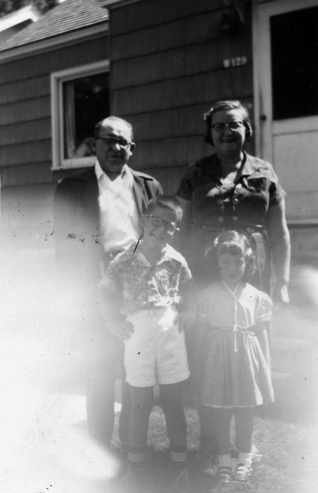 Max (?) Brenner, Goldie, Stanley, Ruth, 8/1953