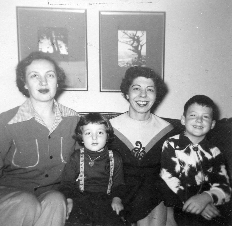 Esther, Ruth, Tess (Theresa, Esther's friend from Clevelan), Stanley, Dec 1953