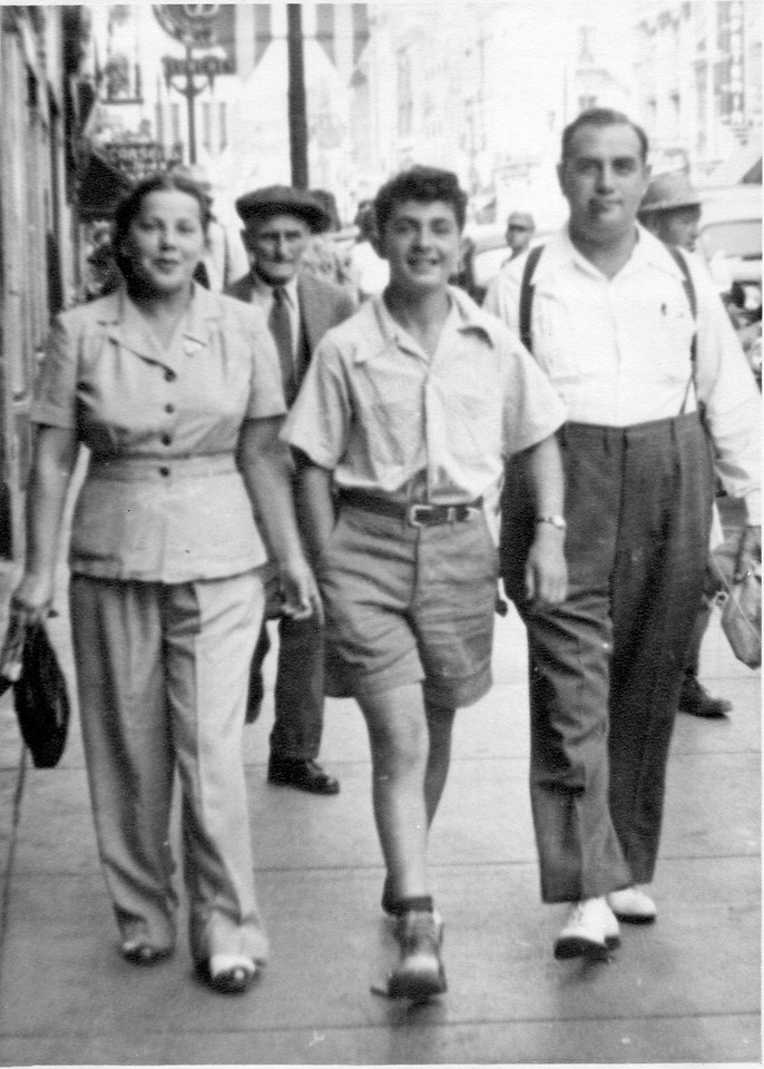 Helen, Max, and Louis, Aug 1948