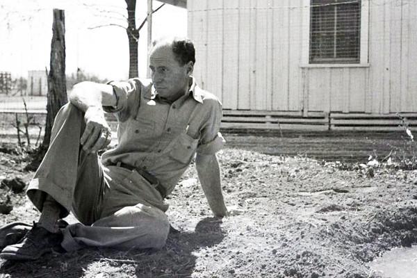 Grandad Arthur in garden