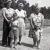 Velma Arthur; Estella Finch; Rillie Allen; William Pierce Arthur Jr.; Norman Allen at Fort Leonard Wood Mo. during World War II - visit to Mildred Arthur Baker