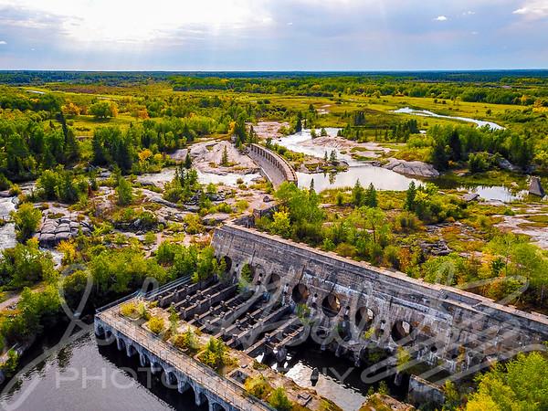 Old Pinawa Hydro Dam Manitoba Provincial Park Autumn 2018
