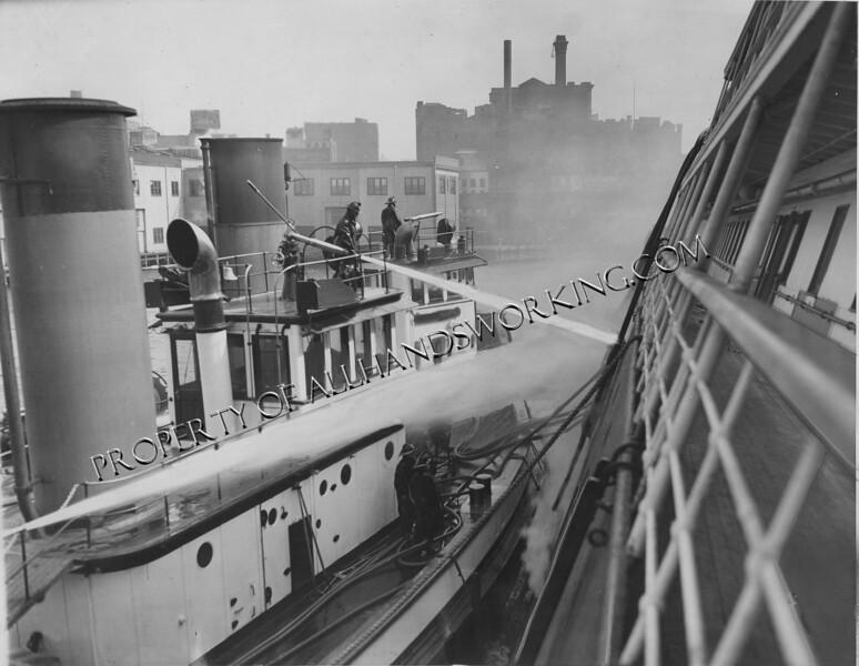 1934 SS City of Montgomery ship fire New York City
