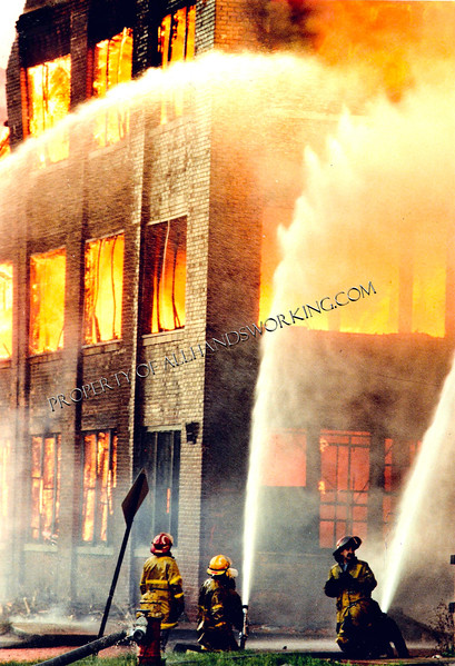 05/03/1988 Detroit, MI -5th alarm vacant warehouse fire on Commonwealth near Marquette