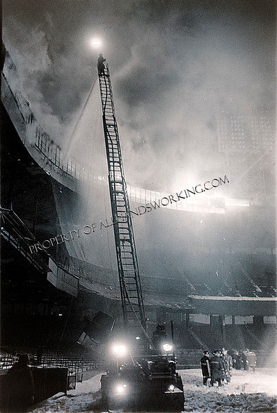 Fire at the Tiger Stadium Press Box, February 1, 1977