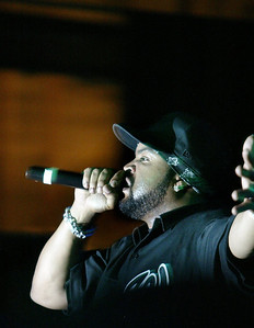 Ice Cube performed a live concert for a large crowd at the Senator Theater Wednesday night. - halley photo 4/26/06