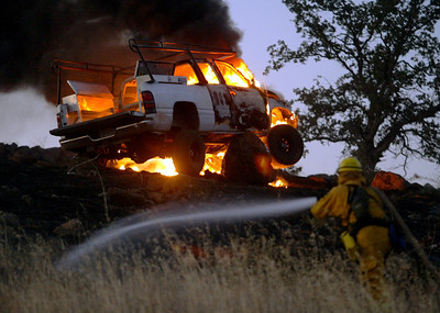 Hwy 32 Vehicle Fire