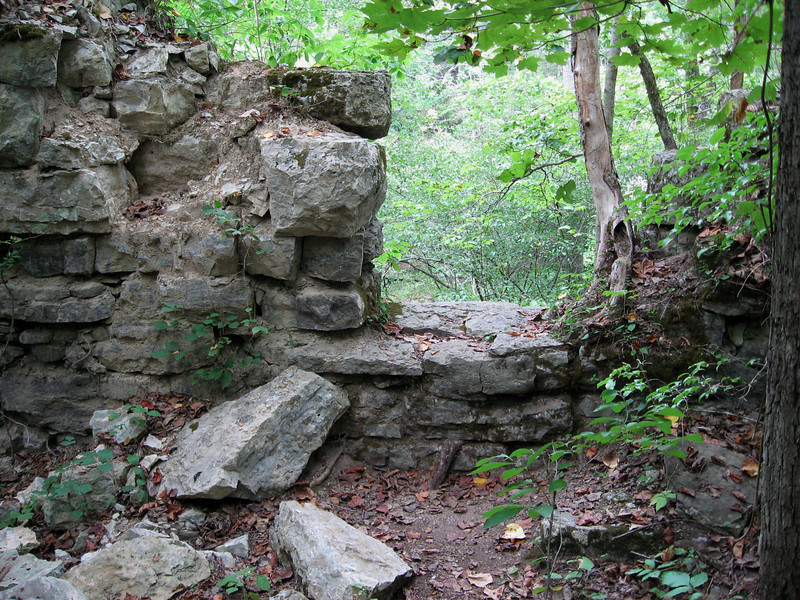 The rugged stone foundation of one of several mid-1800's paper mills that made the Duck River their home is explored often by park visitors.