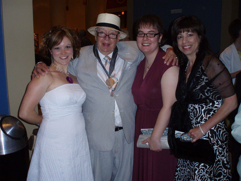 The Girls and Richard - Christina, Richard, Megan and Sharon